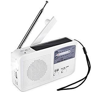 5-in-1 Tragbare Am Fm Radio Solar Kurbel Outdoor Radio Für Notfall Sos Alarm Taschenlampe Lesen Lampe Und 2000 Mah Power Bank Radio